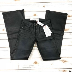 Current Elliot The Low Bell coated denim jeans